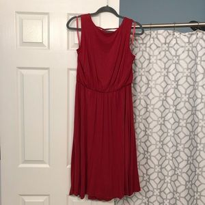Beautiful dark coral LOFT A-line dress